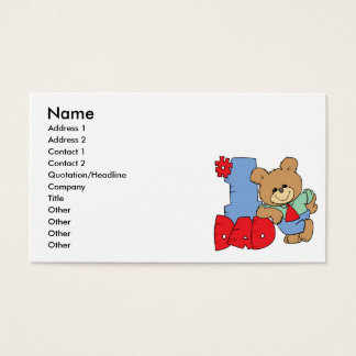 number one dad teddy bear design business card