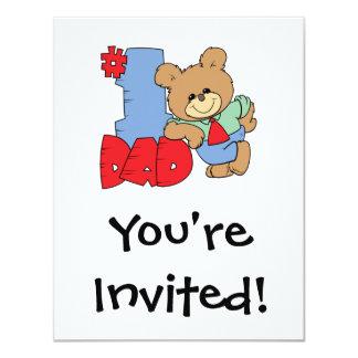 number one dad teddy bear design card