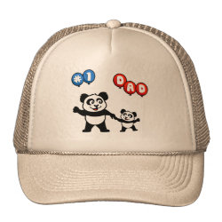 Trucker Hat with Number One Dad design