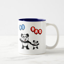 Two-Tone Mug with Number One Dad design