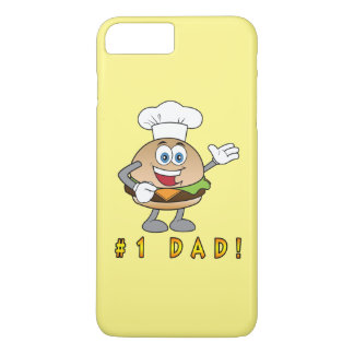 Number One Dad with Cheeseburger iPhone 8 Plus/7 Plus Case