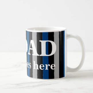 Number one dad with his name coffee mug