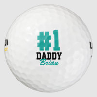 Number One Daddy Father's Day Golf Balls