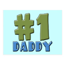 Number One Daddy Products Postcard