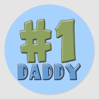 Number One Daddy Products Round Sticker