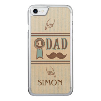 Number One Dad's Father's Day iPhone Carved iPhone 7 Case