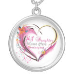 Number One Daughter Heart  Necklace