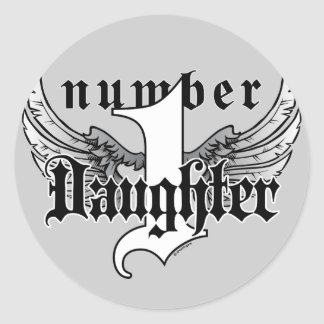 Number One Daughter Sticker