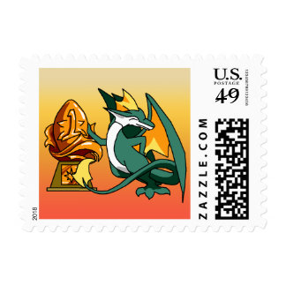 Number One Dragon with Trophy Postage