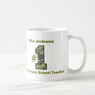 Number One Elementary School Teacher V27 Classic White Coffee Mug