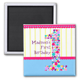 Number One, First Birthday Magnet