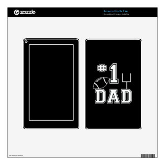 Number One Football Dad Personalize Color Decals For Kindle Fire