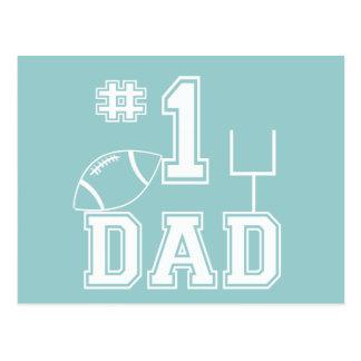Number One Football Dad Postcard