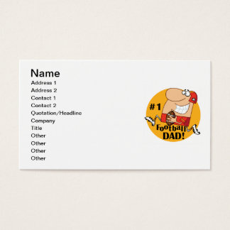 Number One Football Dad T-shirts and Gifts Business Card
