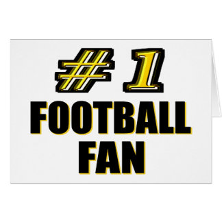 Number One Football Fan Card