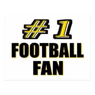 Number One Football Fan Postcard