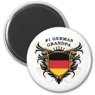 Number One German Grandpa 2 Inch Round Magnet