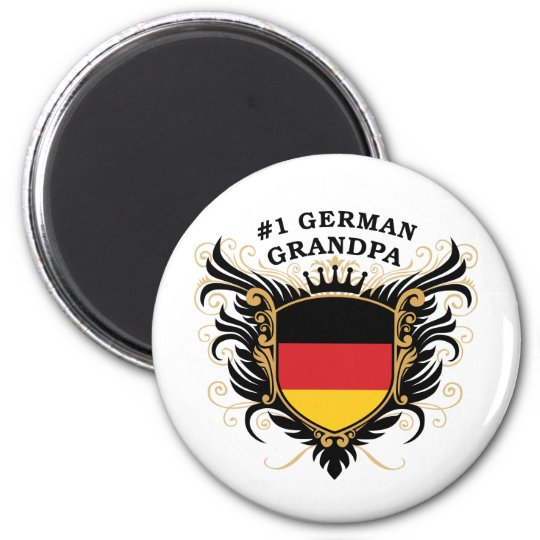 Number One German Grandpa Magnet