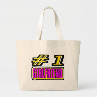 Number One Girlfriend Large Tote Bag