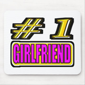 Number One Girlfriend Mouse Pad