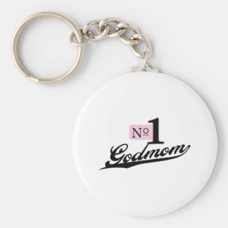 Number One Godmom Keychain