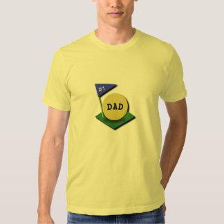 Number One Golf Dad Tshirt