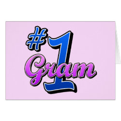 Greeting Card with Number One Gram design