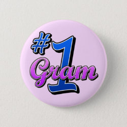 Round Button with Number One Gram design