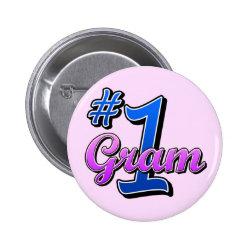 Round Button with Number One Gram design