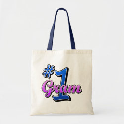 Budget Tote with Number One Gram design