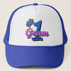 Trucker Hat with Number One Gram design