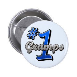 Round Button with Number One Gramps design