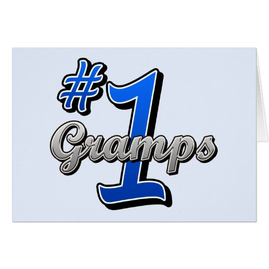 Number One Gramps Card