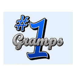 Number One Gramps Postcard