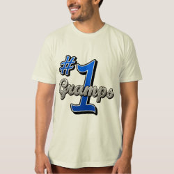 Men's American Apparel Organic T-Shirt with Number One Gramps design