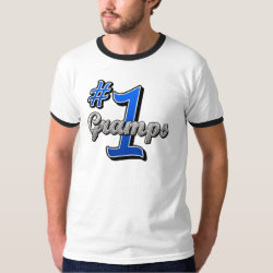 Men's Basic Ringer T-Shirt with Number One Gramps design