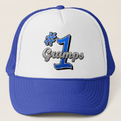 Trucker Hat with Number One Gramps design