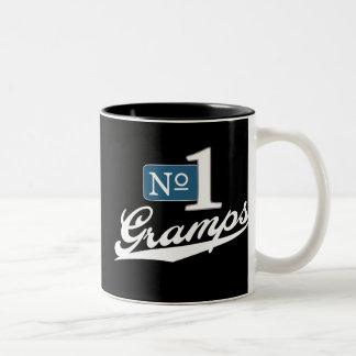 Number One Gramps (White) Two-Tone Coffee Mug