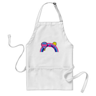 Number One Grandma: Hot-Air Balloon and Rainbow Adult Apron