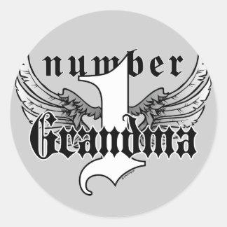 Number One Grandma Sticker