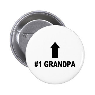 Number One Grandpa 2 Inch Round Button
