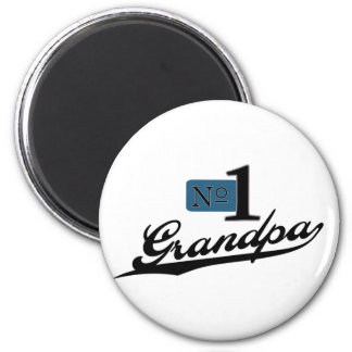 Number One Grandpa 2 Inch Round Magnet