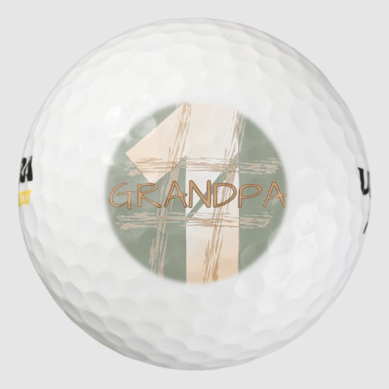 Number One Grandpa golf ball