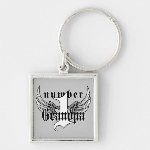 Number One Grandpa Key Chain