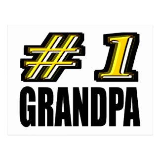 Number One Grandpa Post Card