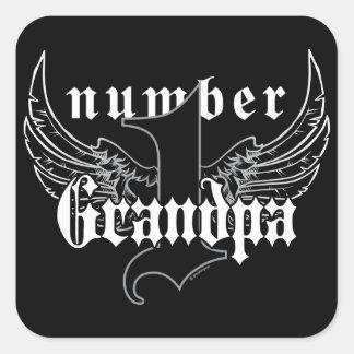 Number One Grandpa Sticker II