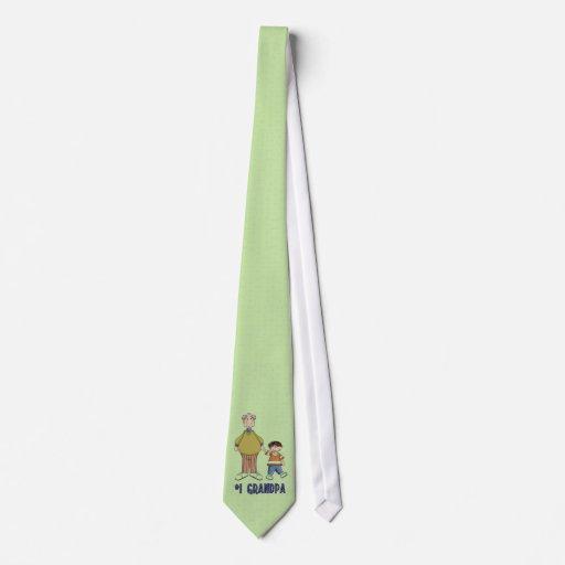 Number one Grandpa Tie
