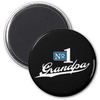 Number One Grandpa (White) 2 Inch Round Magnet