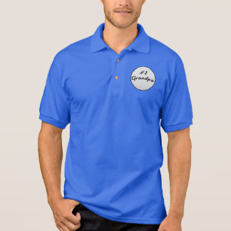 Number One Grandpa with Golf Ball Polo Shirt