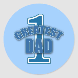 Number One Greatest Dad Products Round Sticker